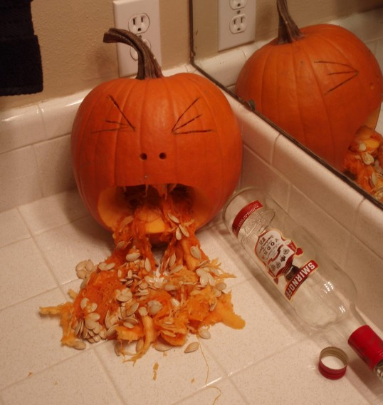 Pumpkins don't let pumpkins drink and trick or treat
