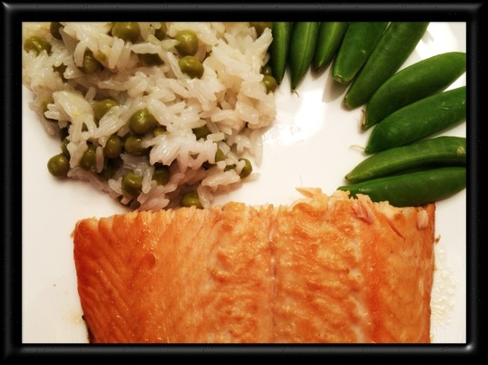Asian Salmon with Jasmine Rice and Peas