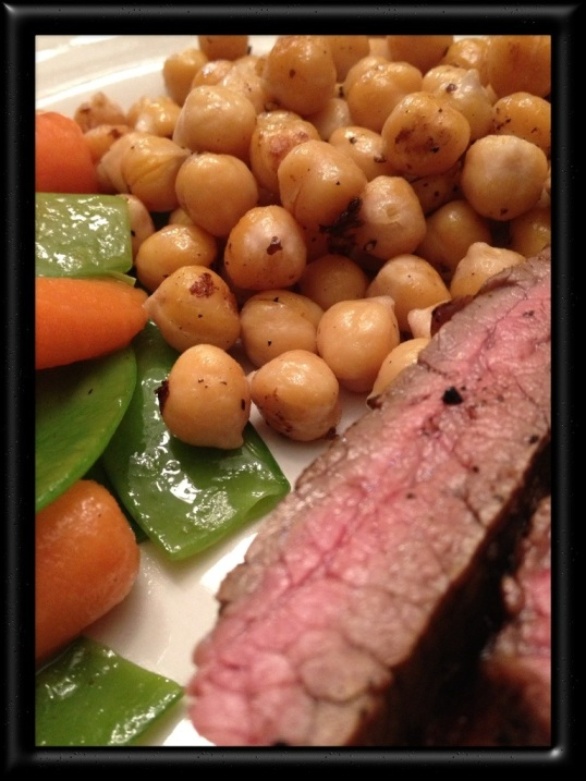 Flank Steak with Honeyed Carrots and Snow Peas
