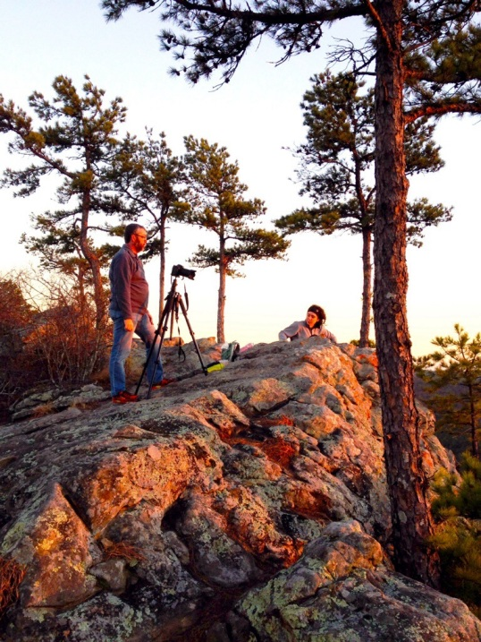 The photographer and the sunset lover, waiting.