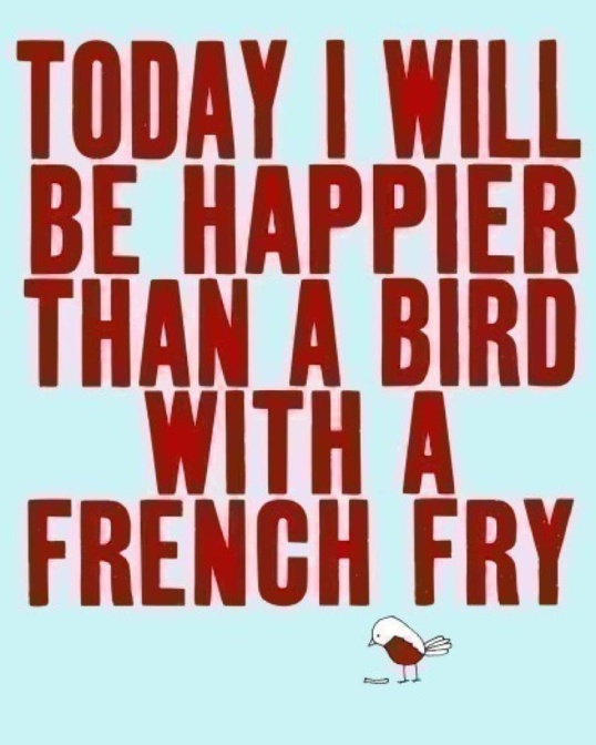 bird with a fry
